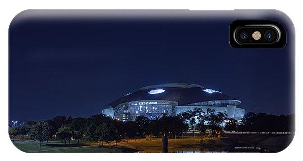 Cowboys Stadium Game Night 1 IPhone Case