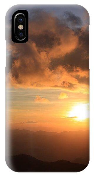 Cowee Mountains Sunset - Blue Ridge Parkway IPhone Case