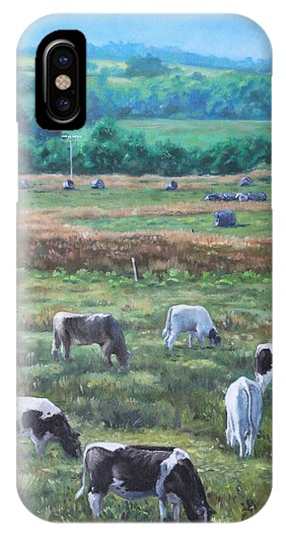 Cows In A Field In The Devon Countryside IPhone Case