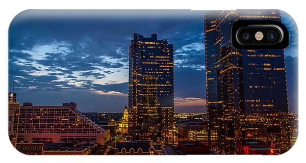 Cowtown At Night IPhone Case