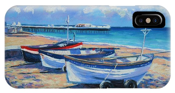 Crab Boats On Cromer Beach IPhone Case