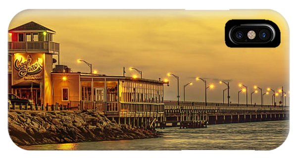IPhone Case featuring the photograph Crab Shack On The James In Amber Glow by Ola Allen