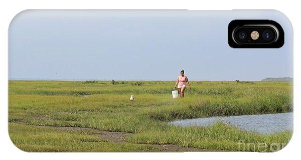 Crabbing At Mystic Island IPhone Case