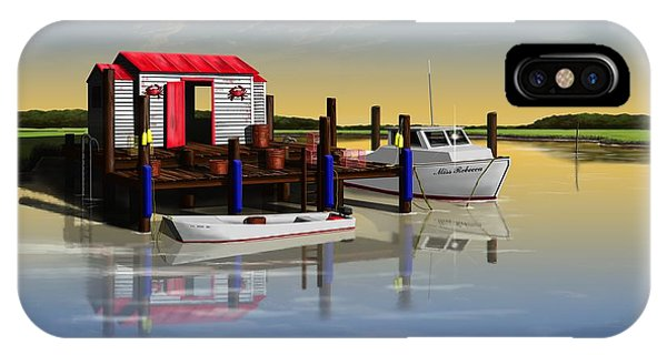 Crabby Shack Phone Case by Patrick Belote