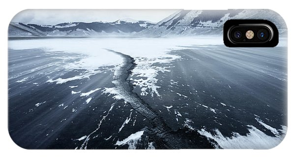 Winter iPhone Case - Crack In The Ice by Riccardo Lucidi