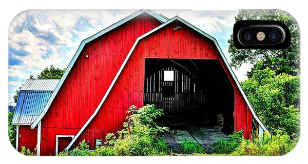 Craftsbury Barn IPhone Case
