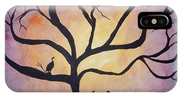 Crane At Sunset Phone Case by Susan Reed