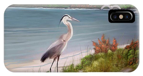 Crane By The Sea Shore IPhone Case