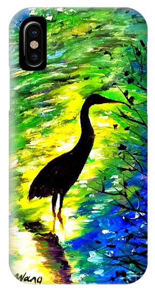 Crane In Lake IPhone Case