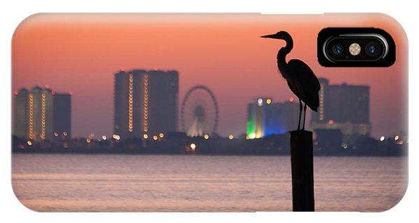 Crane On A Pier IPhone Case
