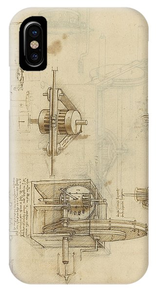 Crank Spinning Machine With Several Details IPhone Case