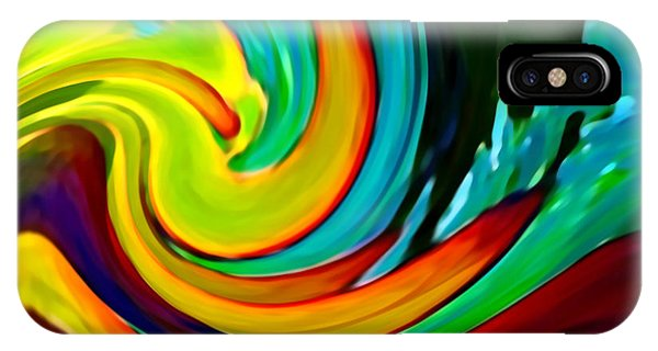 Abstract Digital iPhone Case - Crashing Wave by Amy Vangsgard