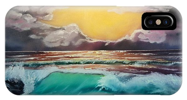 Crashing Wave At Sunrise IPhone Case