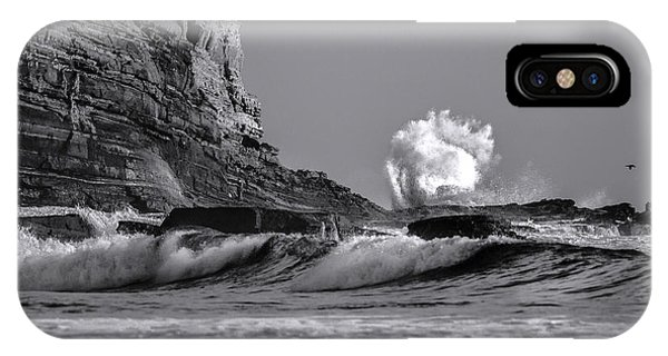 Crashing Waves At Cabrillo By Denise Dube IPhone Case