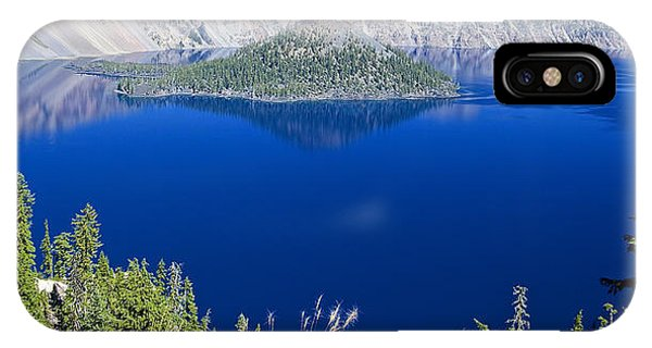 Crater Lake Panorama 090914b IPhone Case