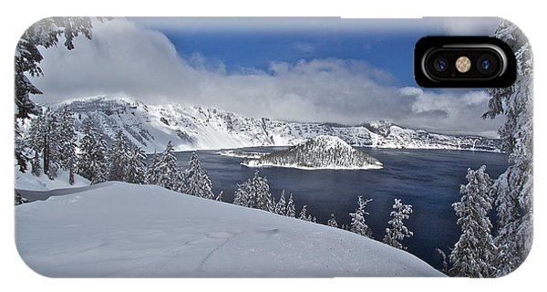 Crater Lake/ Wizard Island IPhone Case