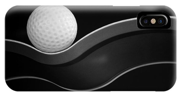 Golf Ball iPhone Case - Craters And Curves by Jacqueline Hammer