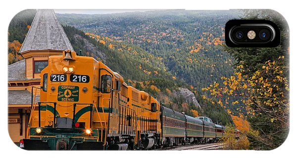 Crawford Notch Train Depot IPhone Case