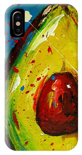 Crazy Avocado 4 - Modern Art IPhone Case