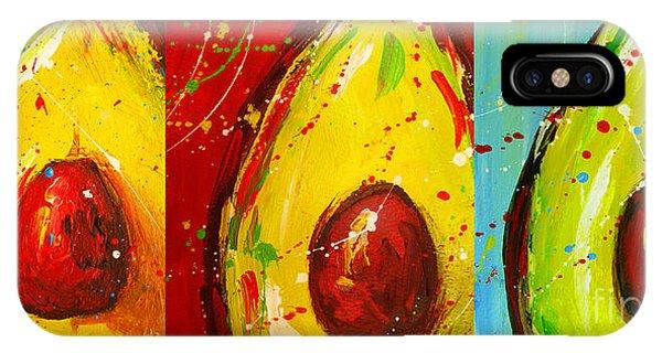 Crazy Avocados Triptych  IPhone Case