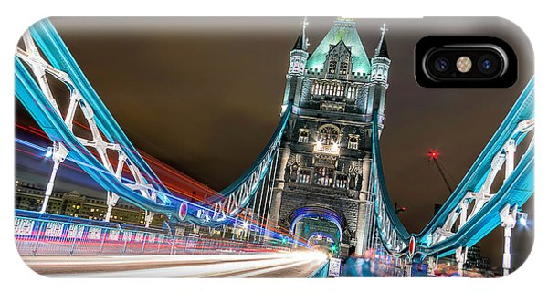 Night iPhone Case - Crazy London by Ahmed Lashin