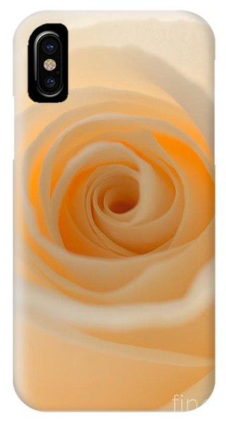 Cream Rose IPhone Case