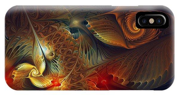 Fractal Landscape iPhone Case - Creation-abstract Fractal Art by Karin Kuhlmann