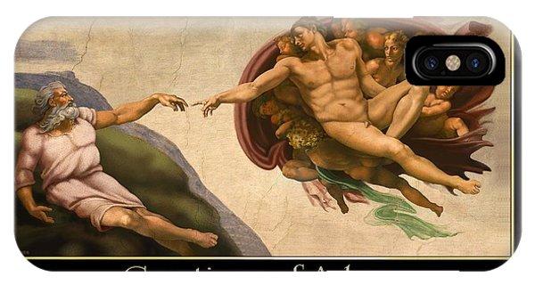 Creations Of Adam IPhone Case