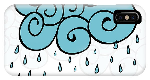 Drop iPhone Case - Creative Blue Cloud And Raindrops by Allies Interactive