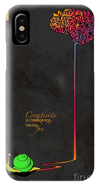 Brain iPhone Case - Creativity Is Intelligence Having Fun by Sassan Filsoof