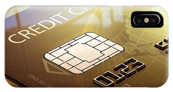 Electronic iPhone Case - Credit Card Macro - 3d Graphic by Johan Swanepoel