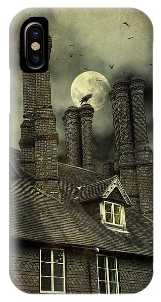 Creepy Old House With Tall Chimney's IPhone Case