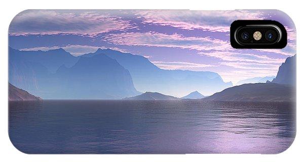 Crescent Bay Alien Landscape IPhone Case