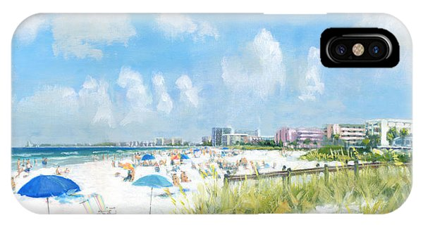 Crescent Beach On Siesta Key IPhone Case
