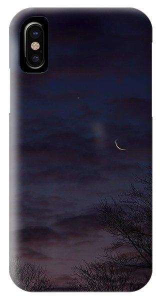 Crescent Moon And Venus Rising IPhone Case