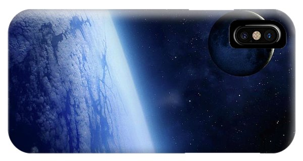 Earth Orbit iPhone Case - Crescent Moon From Earth Orbit by Mark Garlick/science Photo Library