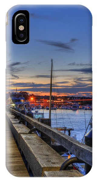 Crescent Moon Over Newburyport Harbor IPhone Case
