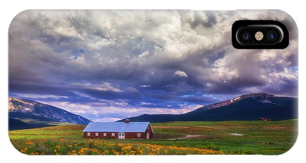 Crested Butte Morning Storm IPhone Case