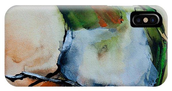 Crested Croquette Hummingbird IPhone Case