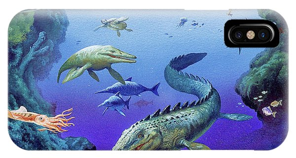 Cretaceous Period Fauna Phone Case by Christian Jegou Publiphoto Diffusion/ Science Photo Library