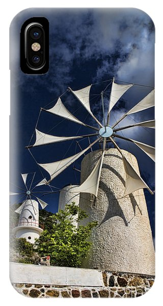 Greece iPhone Case - Creton Windmills by David Smith