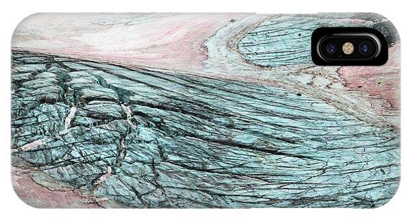 Crevassed Glacier With Pink Algae IPhone Case