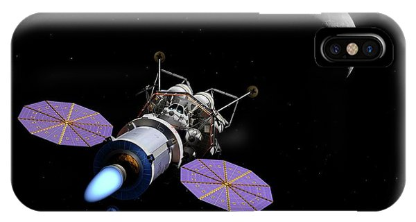 Spaceflight iPhone Case - Crew Exploration Vehicle And Lunar Lander by Walter Myers/science Photo Library
