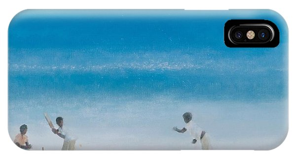Cricket iPhone Case - Cricket On The Beach, 2012 Acrylic On Canvas by Lincoln Seligman