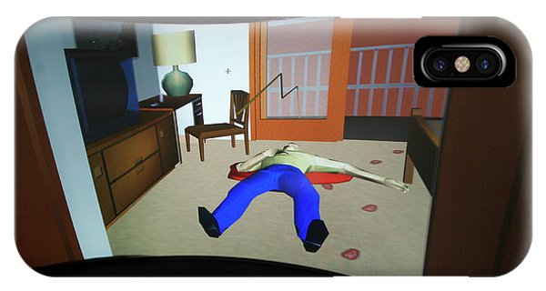 Crime Scene Reconstruction Phone Case by Louise Murray/science Photo Library
