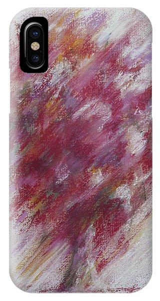Lavender iPhone Case - Crimson Bouquet by Rachel Christine Nowicki