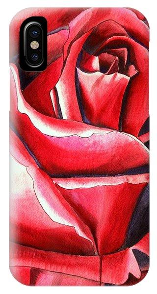Crimson Glory Rose Phone Case by Sacha Grossel