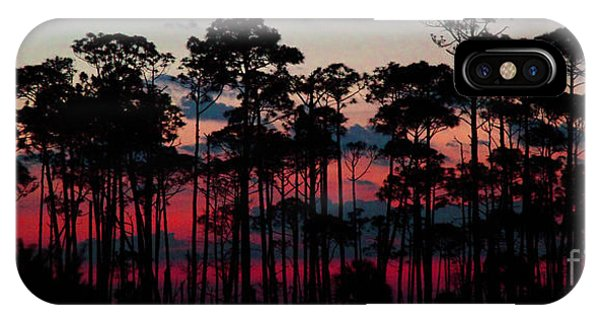 Crimson In The Pines IPhone Case