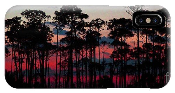 Crimson In The Pines IPhone Case