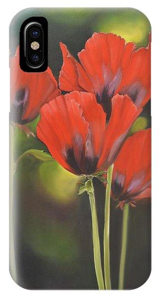 Crimson Petals IPhone Case